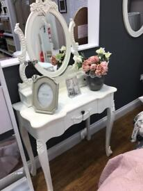 Dressing table French mirror stool cabinets bedroom