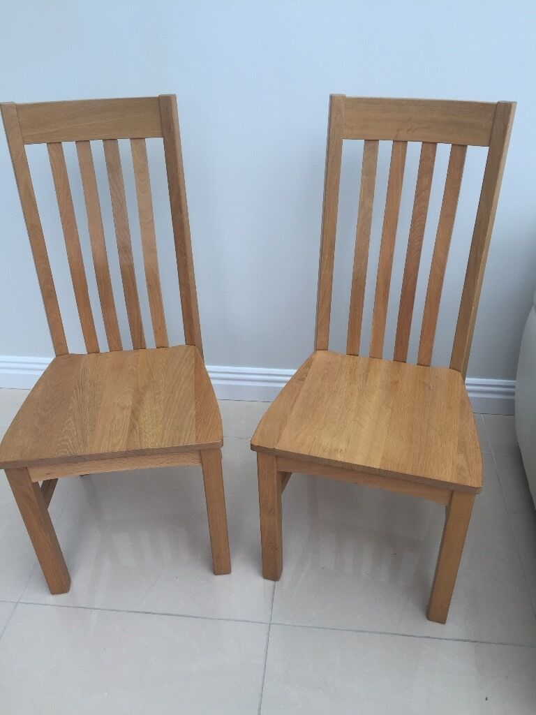 solud Oak Kitchen Chairsin BridgendGumtree - These Two Solid Oak Kitchen Chairs are in Excellent Condition. Very comfortable
