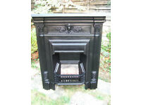 STUNNING RECLAIMED CAST IRON FIREPLACE,READY TO FIT