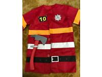 Fire man outfit jacket with axe