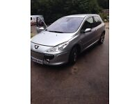 Peugeot 307 in stunning silver all usual extras part leather air con etc sporty looking car