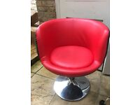 Chair ,adjustable, gas lift , red , salon chair