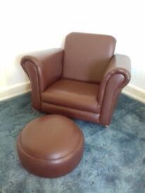 Child's Armchair & Foot Stool