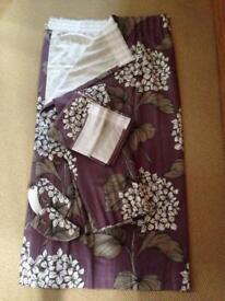 Next Hydrangea Curtains, Pelmet and tie backs