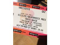 3x Craig David tickets standing Newcastle metro radio arena