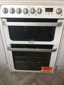 Hotpoint Ultima duel fuel, 60cm, double fan assisted oven