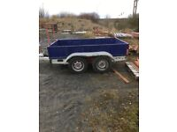 Twin wheel base trailer in need of tec.Good solid body and chassis.