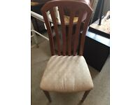Teak effect dining chairs