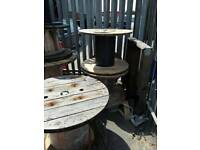 Reclaimed wooden cable drums various sizes can deliver locally