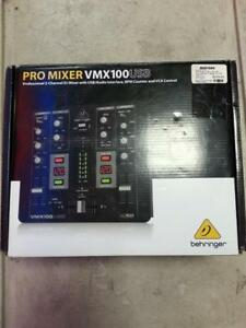 Behringer VMX100USB Two Channel DJ Mixer. We Sell Used DJ Equipment. (#41812)