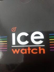 Unisex (large) ICE white watch
