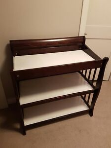 Selling beautiful dark brown baby change table!
