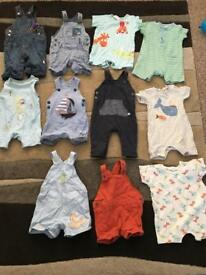 Baby boy 3-6 months playsuits/rompers/dungarees 11 pairs
