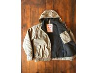 Mens Tog 24 Fleece-Lined Warm Winter Hooded Coat Jacket Khaki Green Small