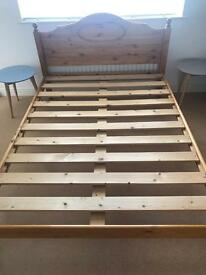 Solid Pine 4ft 6 double bed