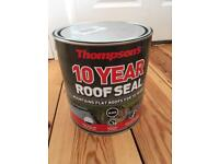 Roofseal paint for flat roofs - full, unused