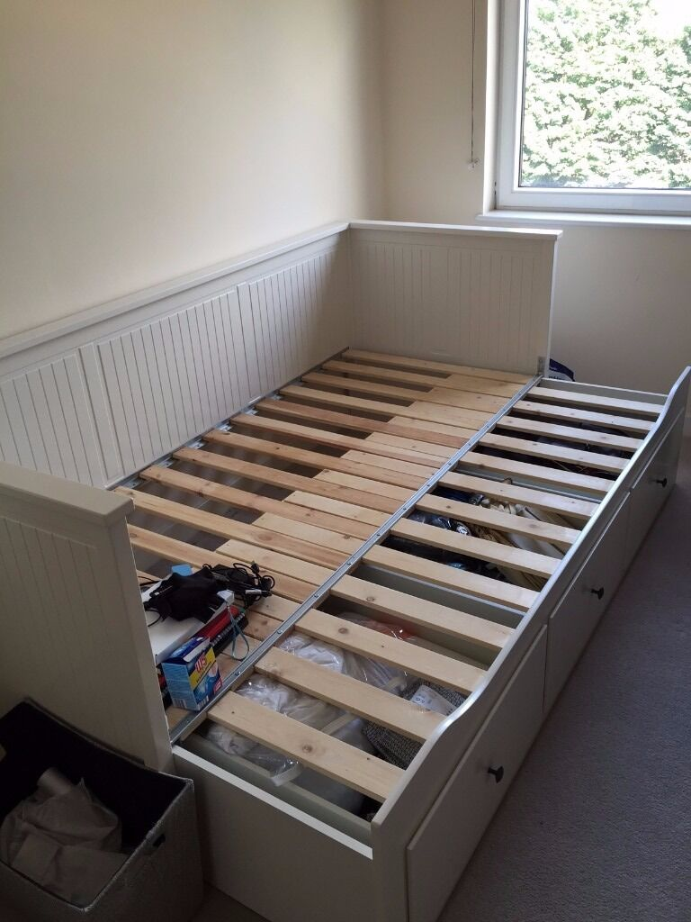 Daybed Single Expandable As A Double Bed With Storage In