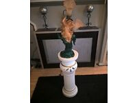 ceramic column and lamp