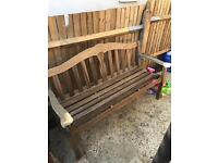 Vintage Teak Garden Bench - CAN DELIVER