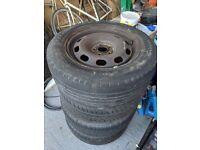 VW Golf Mk4 Steel Wheels and tyres x4