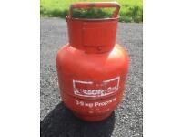 3.9 kg Calor Gas Propane Bottle 1/4 left