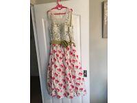 Vintage floral dress size 14.