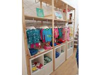 Shop Fittings - clothing rails and shelving