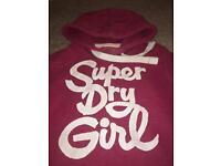 Girls/Ladies Superdry Hoody/Hoodie - size L