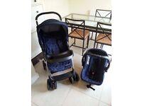 Mothercare U Move Buggy Pram Pushchair Car Seat Travel System footmuff rain cover