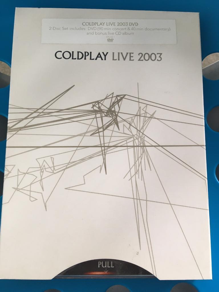 Coldplay Live 2003 double DVD