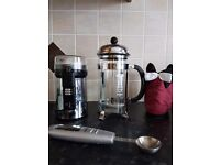 *Reduced* Coffee Set- Russell Hobbs Coffee Grinder, Salter Coffee Spoon & Bodum cafetiere with cover