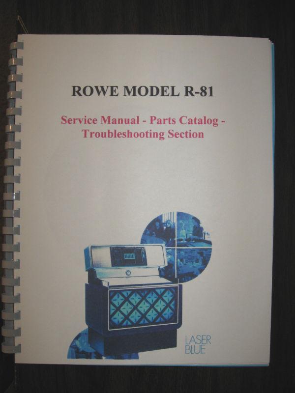 ROWE MODEL R-81 JUKEBOX MANUAL