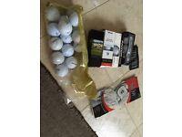 Mixed selection of high end golf balls