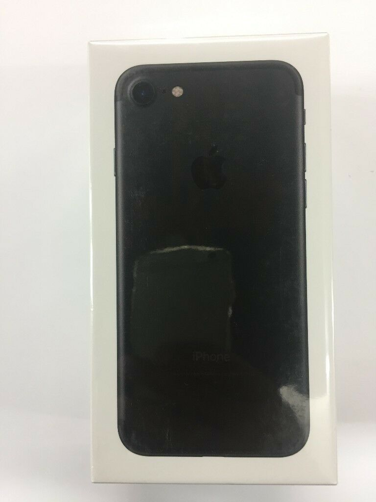 IPHONE 7G 128GB BRAND NEW SEALED BLACK THREE 3 NETWORK 12 MONTH WARRANTY