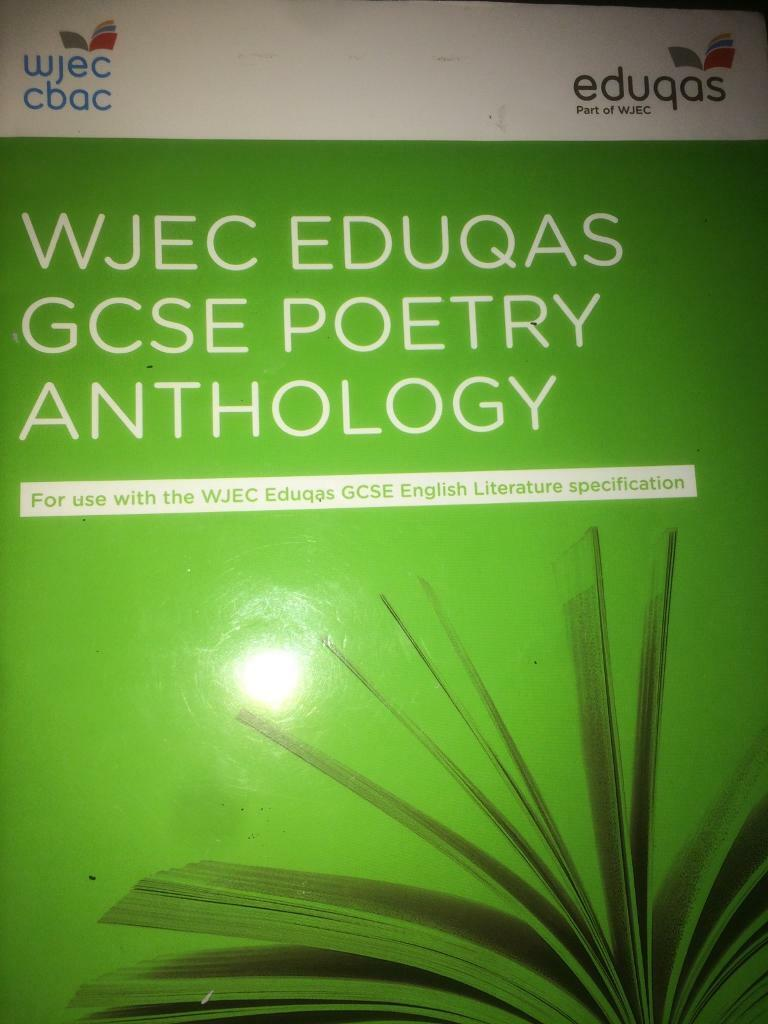 Poetry Book Cover Name : Gcse anthology poetry in middlesbrough north yorkshire
