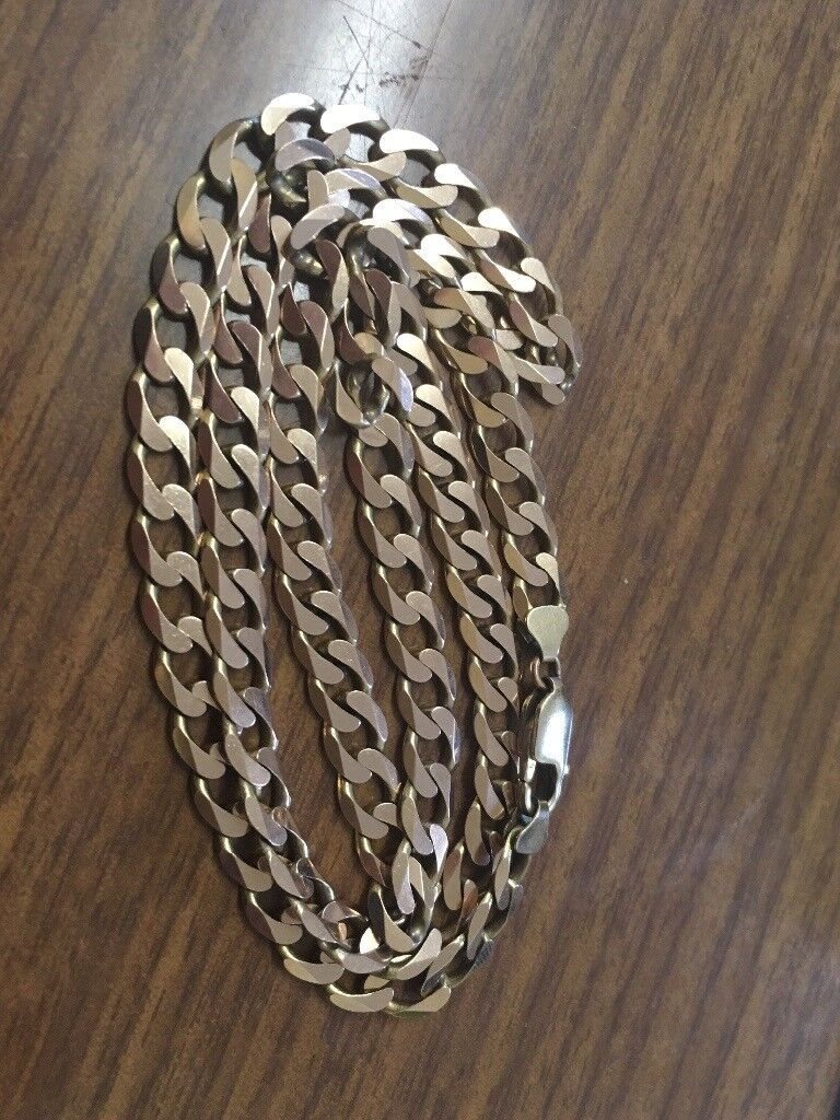 9 ct gold curb chain necklace