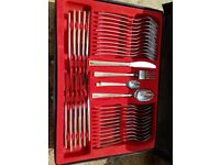 12 person, 83 piece POLINGER canteen of cutlery 18/10