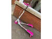 New Girls Scissor scooter pink and white