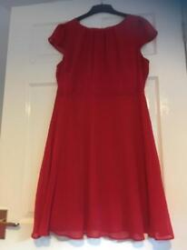 8e96565e518 Bridesmaid dress berry red size 12  14 top skirt
