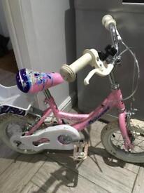 Girls concept princess bike.