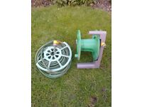 HOSE REEL WITH ACCESSORIES FOR SALE. PLEASE READ FULL DESCRIPTION.