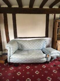 Victorian drop end sofa