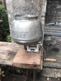 Vintage diabolo rotary butter churn