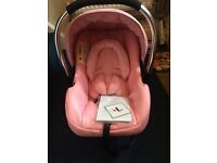 Pink Leatherette Baby Car seat / Brand new in box