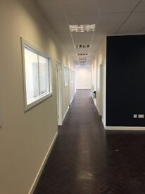Entire upper wing for rent. 8 Rooms including a meeting room, Fibre Broadband, security entrance