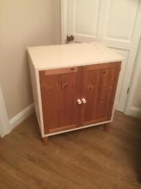 Ikea pine cabinet