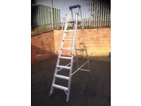 Clow Heavy Duty Aluminium Platform Step Ladders - Great Condition