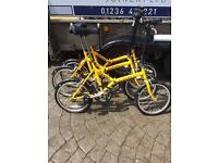 3 x folding bikes for sale