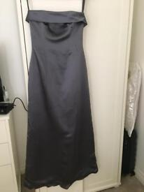 Grey/purple evening dress from monsoon size 10