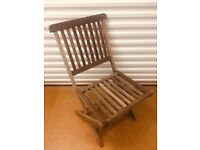Set of two wooden Garden Chairs